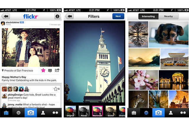 Flickr для мобильного