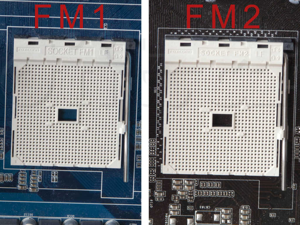 Comparison of an AMD FM1 and AMD FM2 sockets