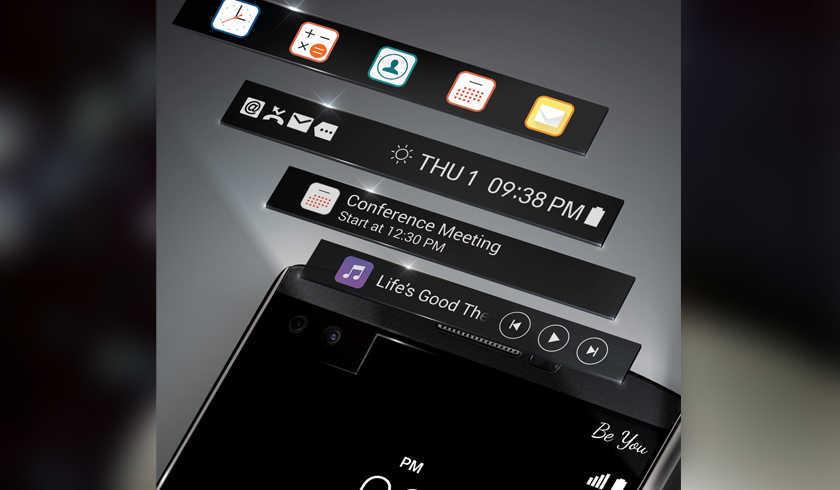 второй экран LG v10