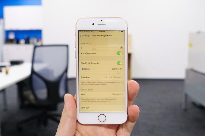 выход iOS 9.3, ночной режим