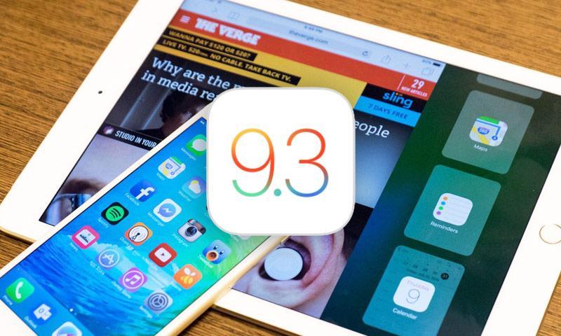 выход iOS 9.3