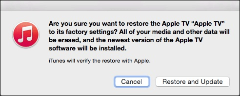 Как сбросить к заводским настройкам Apple TV