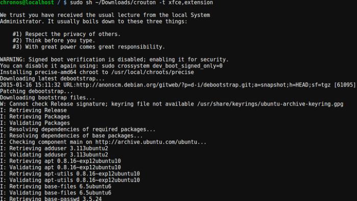 Как поставить линукс на хромбук?